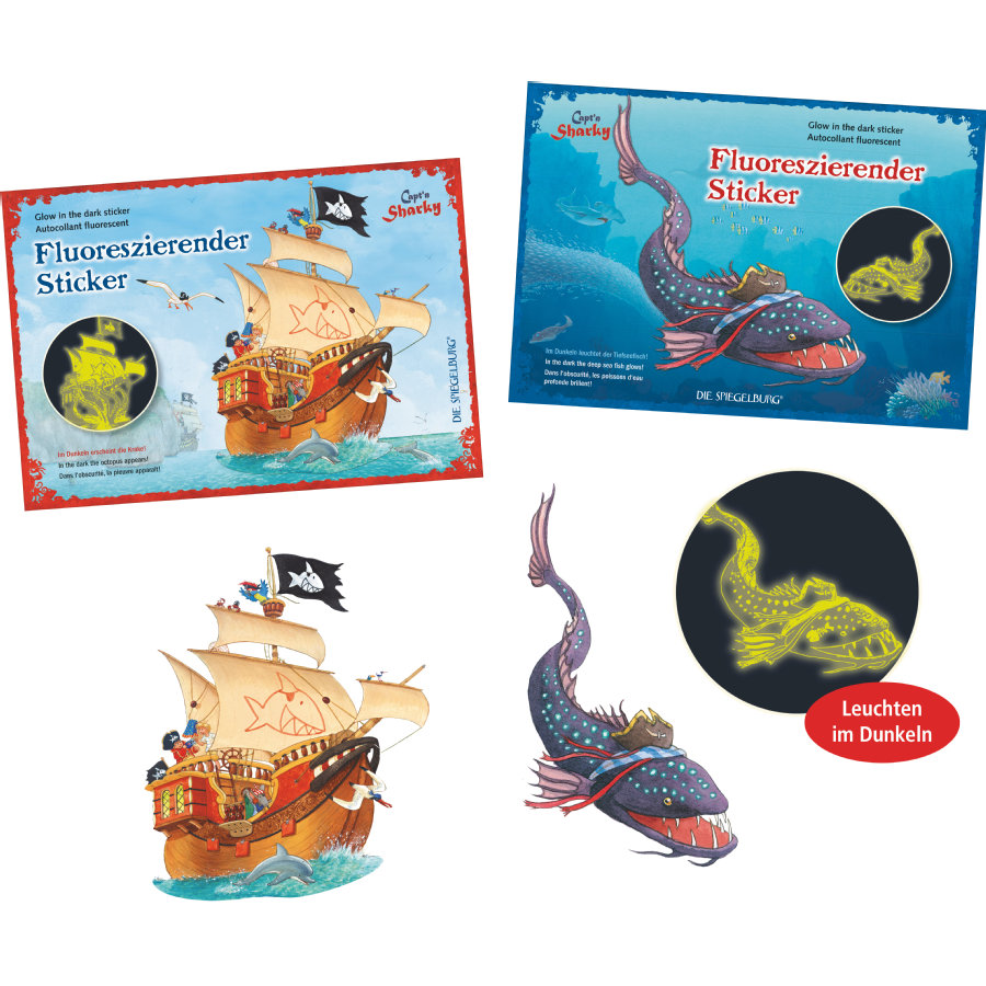 COPPENRATH Stickers lumineux - Capt'n Sharky