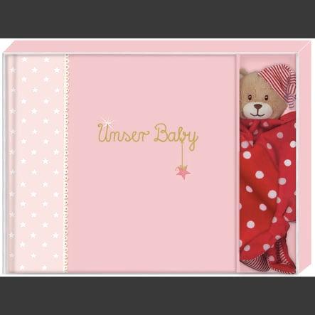 COPPENRATH Geschenkset BabyGlück - Unser Baby rosa
