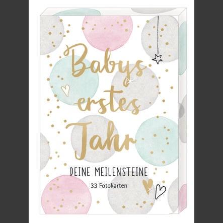 COPPENRATH Fotokarten-Box Babys erstes Jahr - Deine Meilensteine