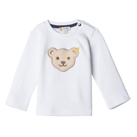 Steiff Boys Sweatshirt, bright white