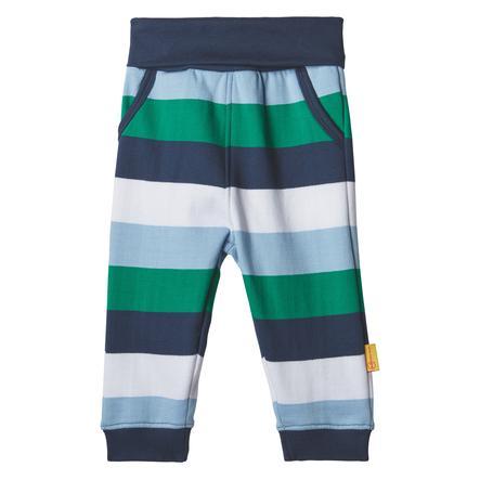 Steiff Pantalones de chándal para niños, con rayas en el black iris
