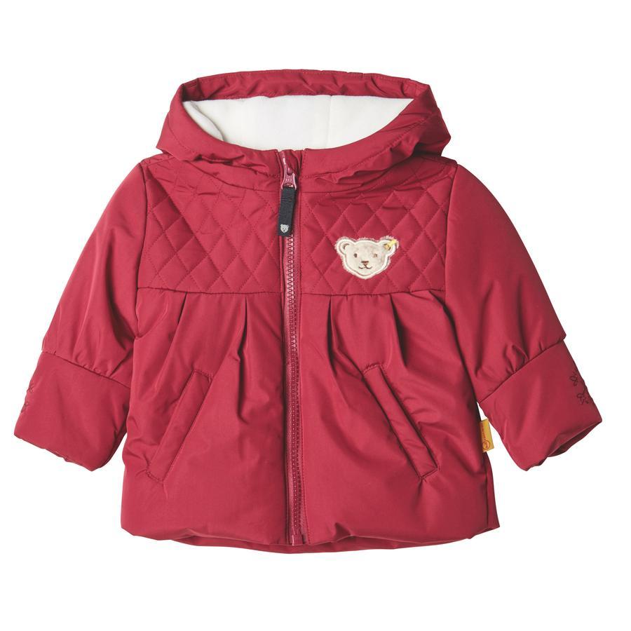 Steiff jakkejakke, rød rød