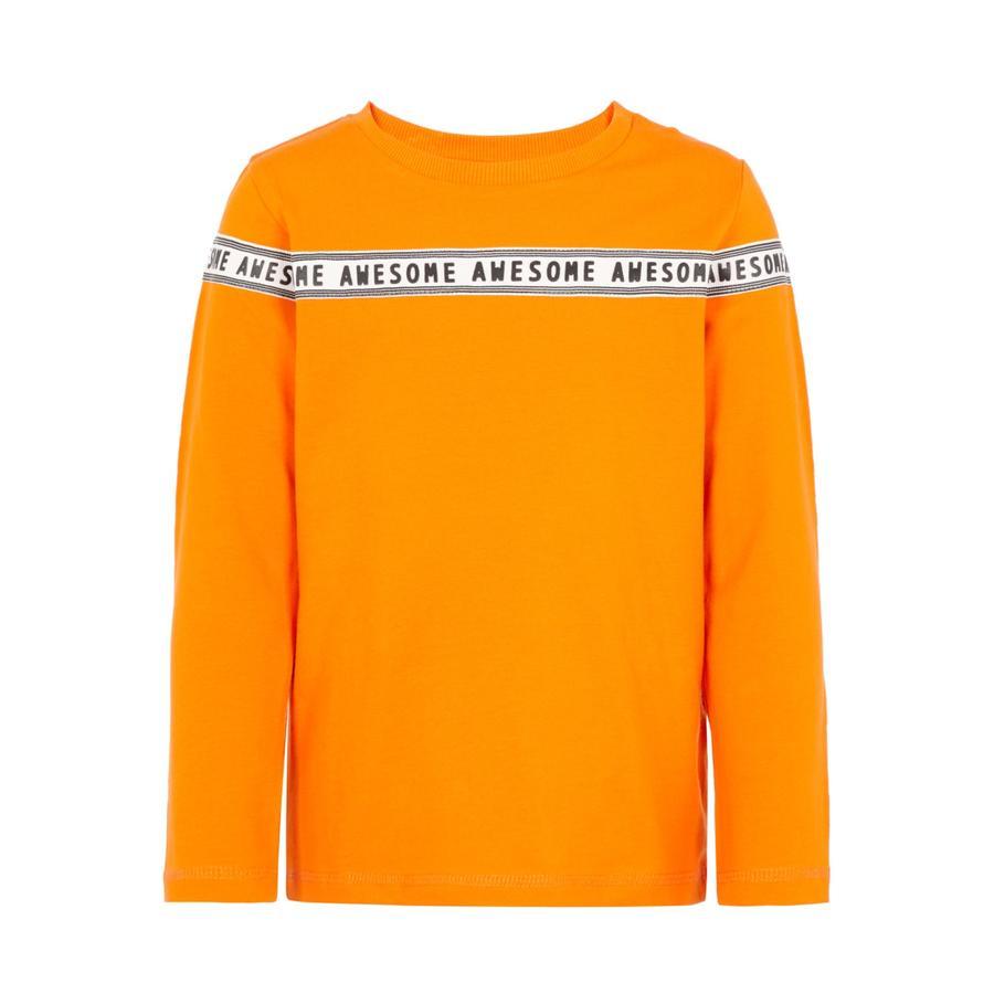 name it Jongens overhemd met lange mouwen alleen mandarijn orange