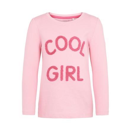 name it Girls Shirt met lange mouwen Nania prisma roze
