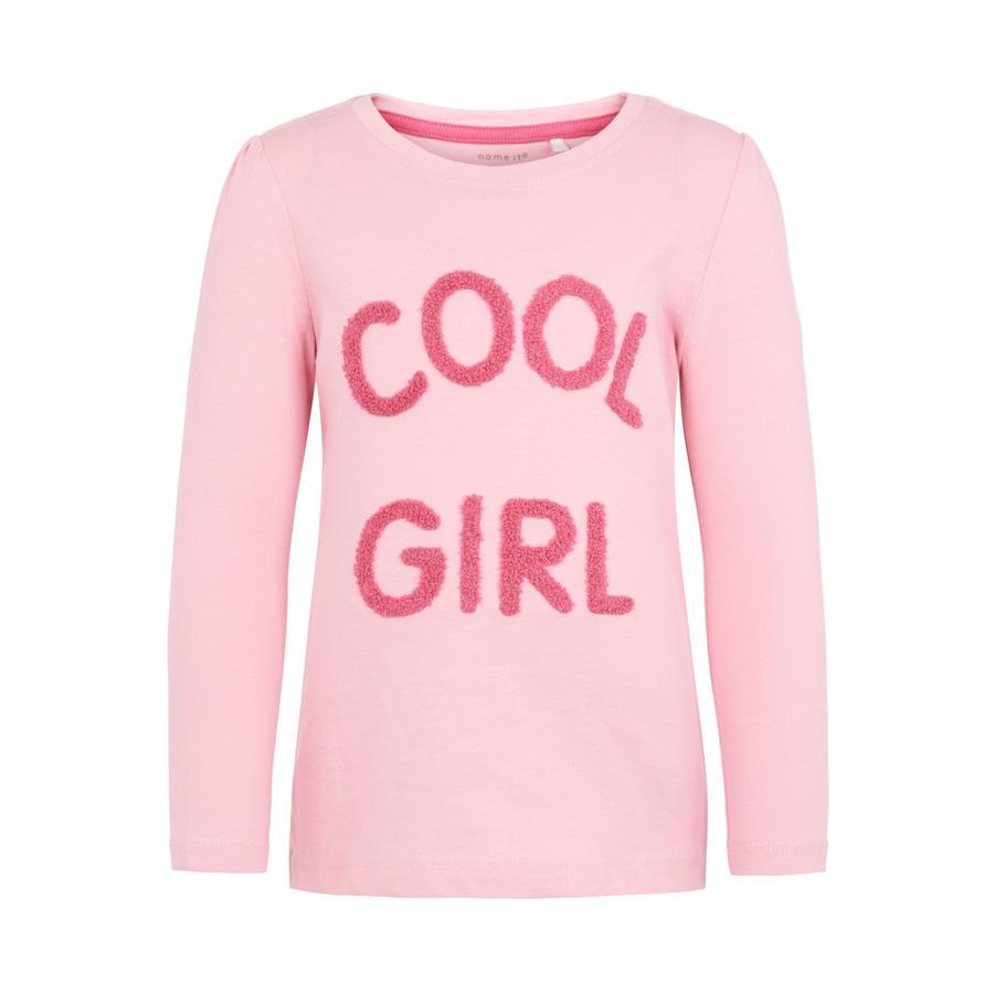 name it Girls Koszula z długim rękawem Nania pryzmatyczny różowy