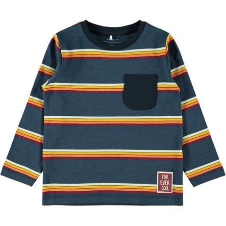 name it Camisa manga larga niño Nari zafiro oscuro