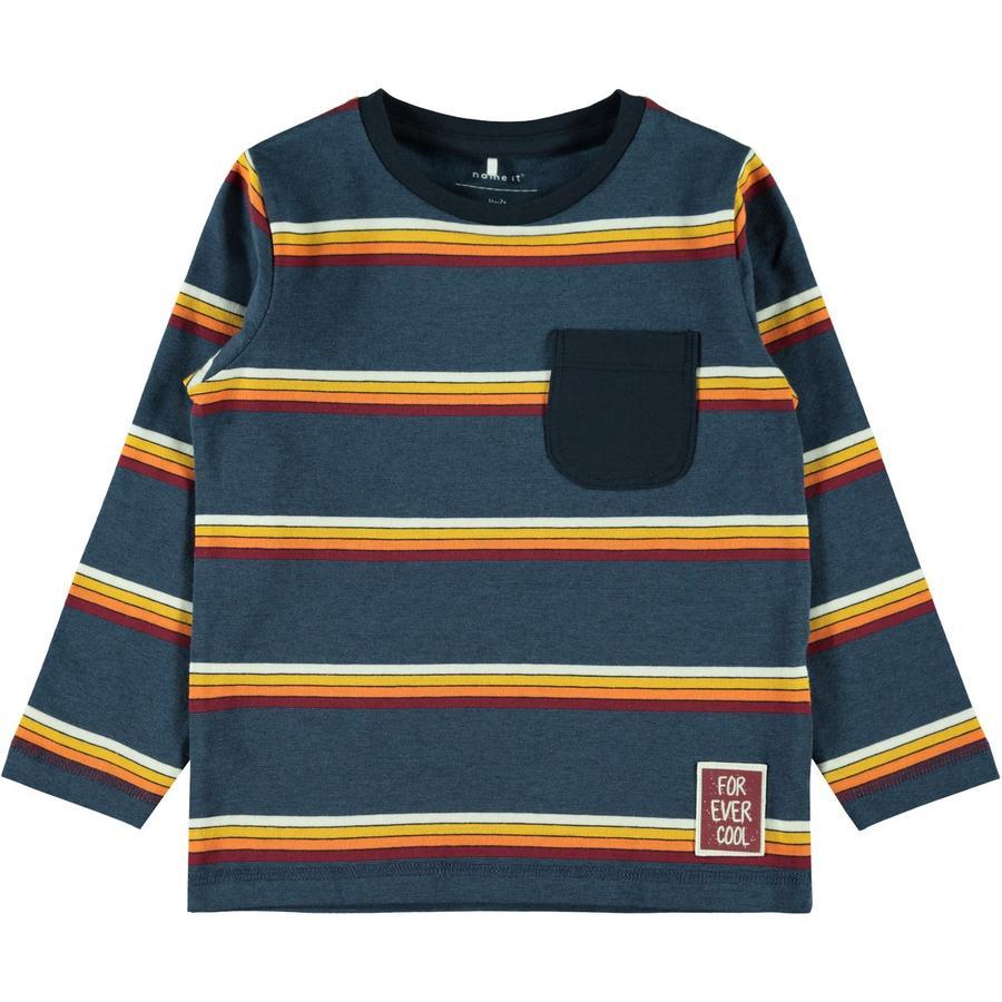 name it Jongens overhemd met lange mouwen Nari donker saffier