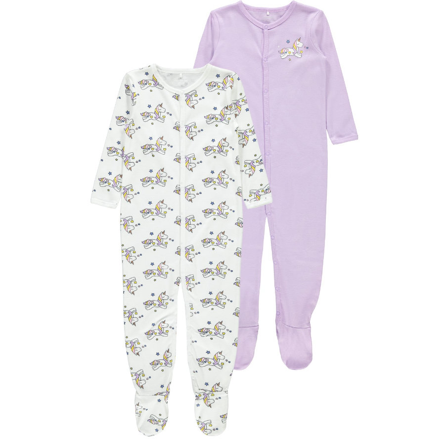 name it  Girls Pyjama 2-pack lavande