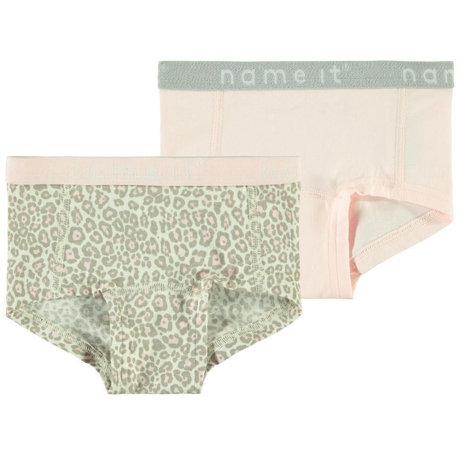 name it Girls kalhotky 2 ks barely pink