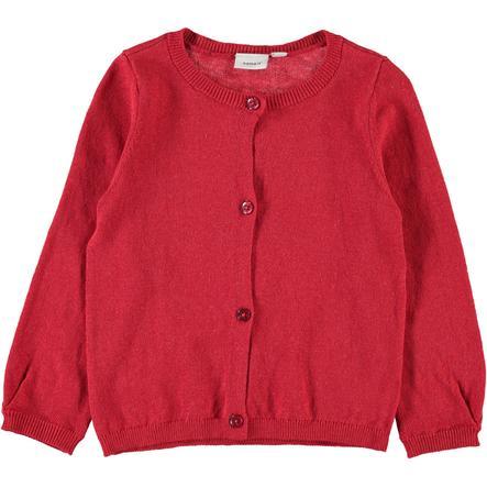 name it Girls Strickjacke NMFVERNAYA poppy red