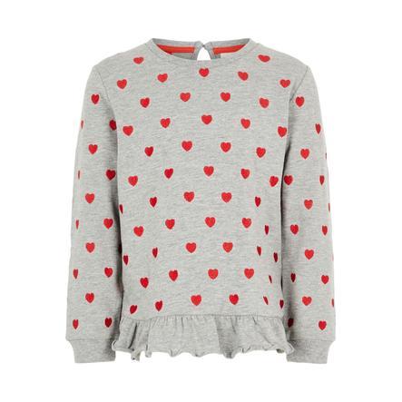 name it Girls Sweatshirt NMFLUBA grey melange