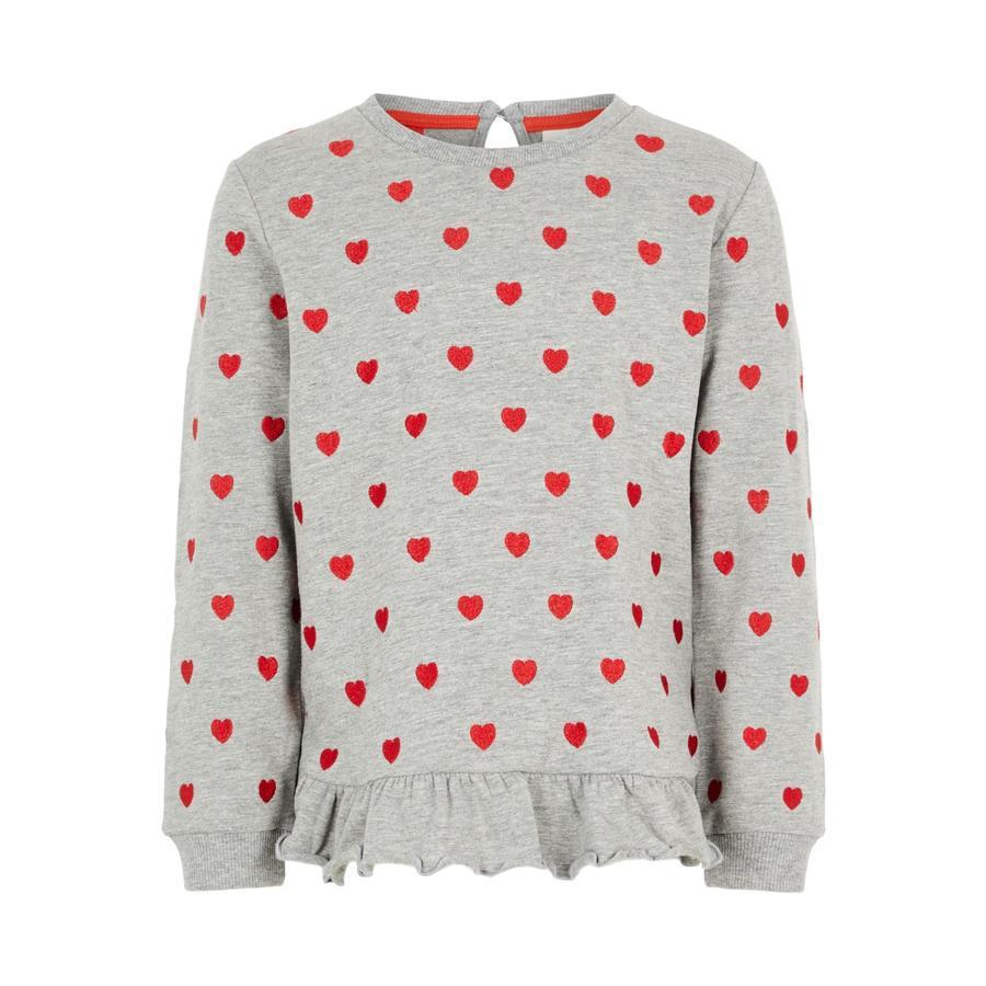 name it Girls Sweat-shirt Luba gris mélangé