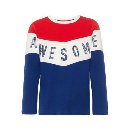 name it Camisa de manga larga para niños Likool mars rojo