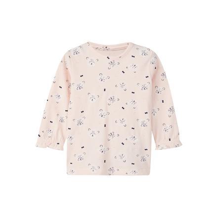 name it Girls Camisa manga larga Lalina barely rosa