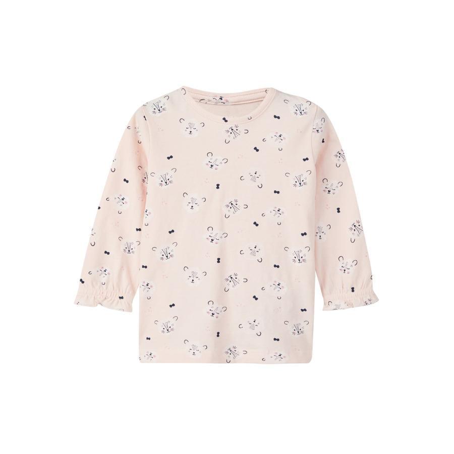 name it Girls Shirt met lange mouwen Lalina barely roze