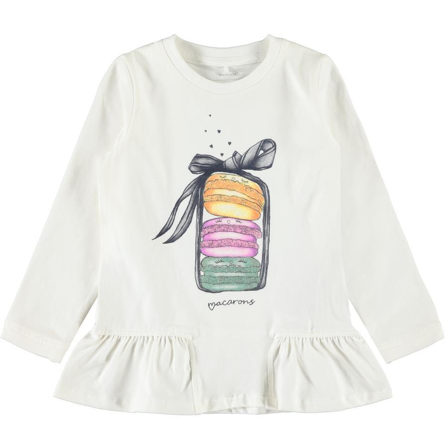 name it Girls Shirt met lange mouwen Nele sneeuw white