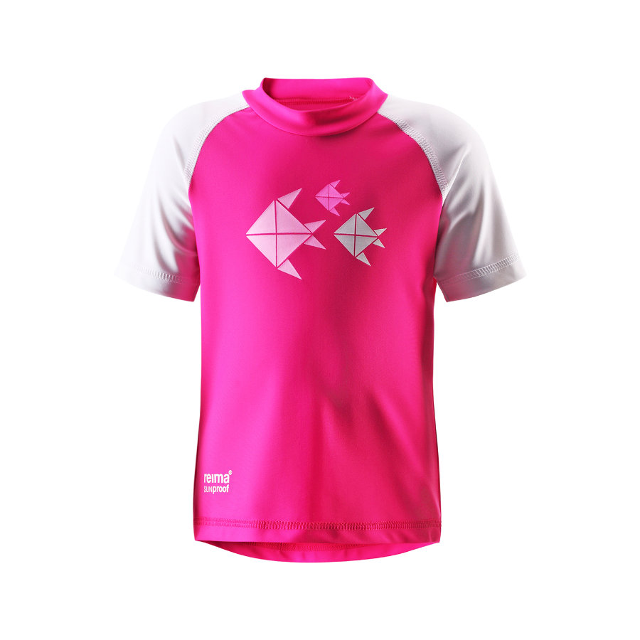 REIMA Girls Mini UV Swim Shirt AZORES fresh pink