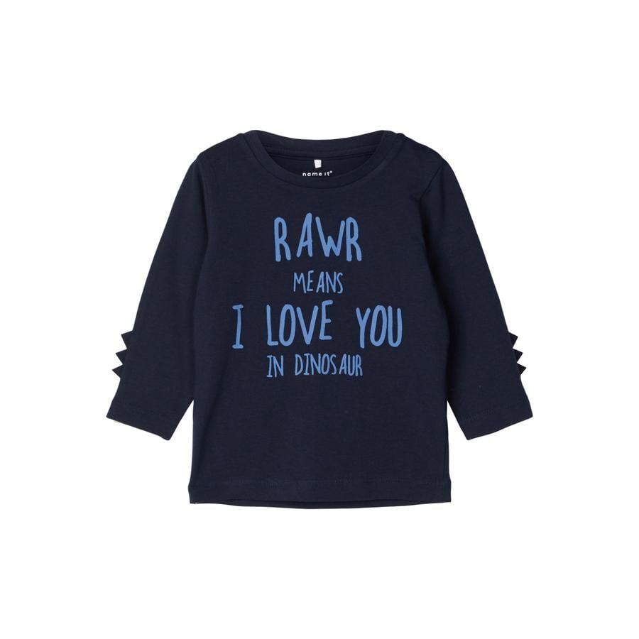 name it Camisa de manga larga para niños Nasir Dark Sapphire