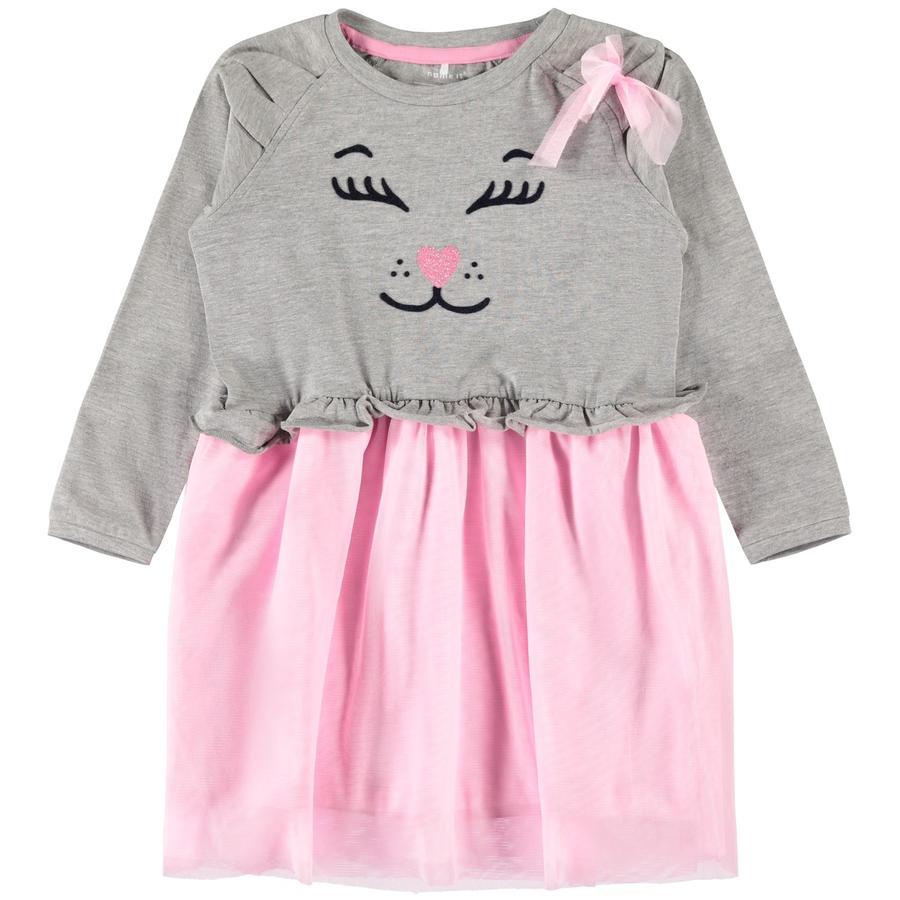 NAME IT tyttöjen Dress Nelia Grey Melange