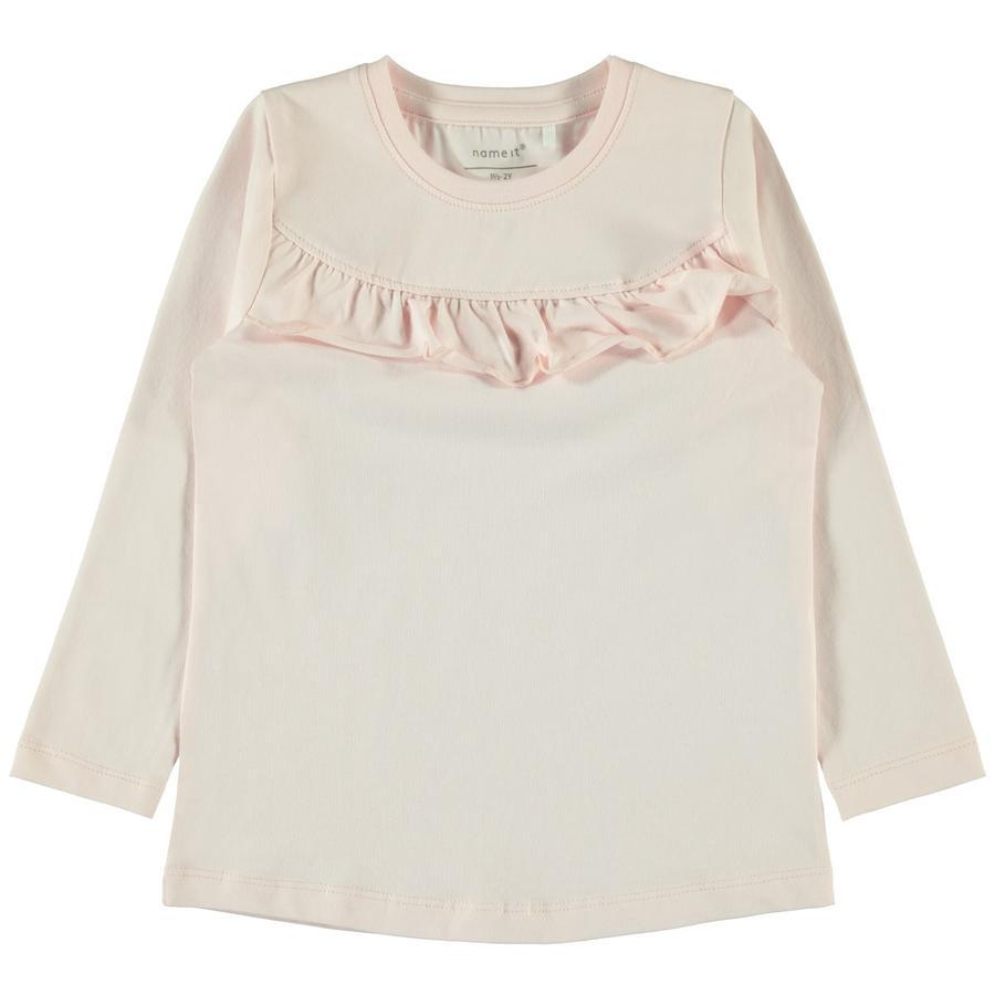 name it Girls Langærmet skjorte Naira Barely Pink