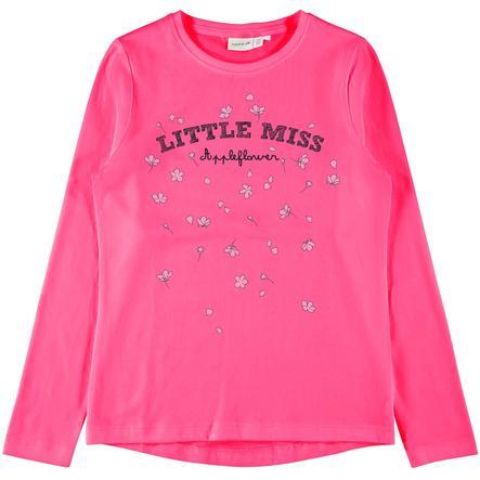 name it Girls Koszula z długim rękawem Veen Fuchsia Purple