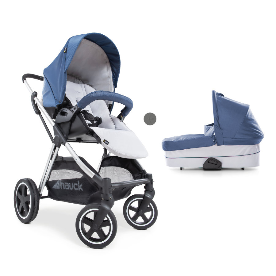 hauck Kombi-Kinderwagen Mars Duo Set Denim/Silver