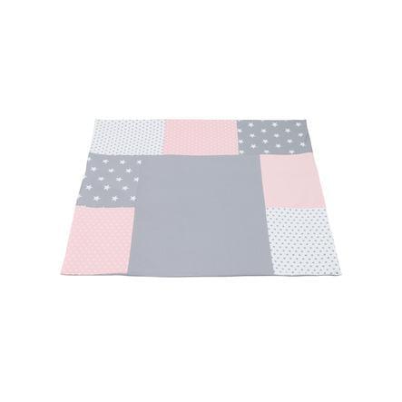 Ullenboom Patchwork Přebalovací potah růžová šedá 75x85 cm