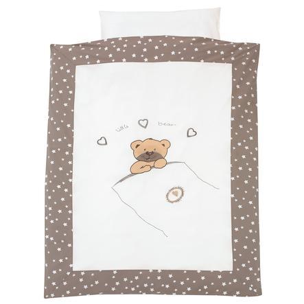 ALVI Bettwäsche Applikation - Little Bear beige 100x135