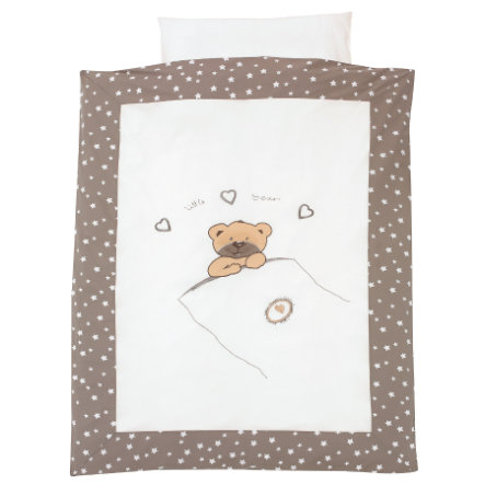 ALVI sengetøj applikation - little bear beige 100x135