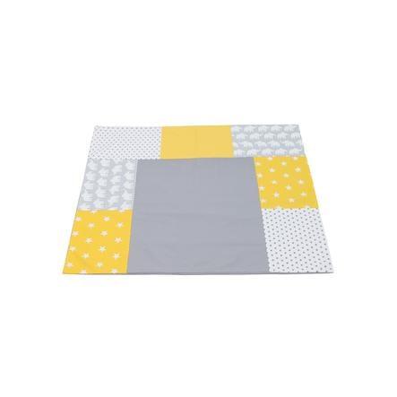 Ullenboom Patchwork Wickelauflagen-Bezug Elefant Gelb 75x85 cm