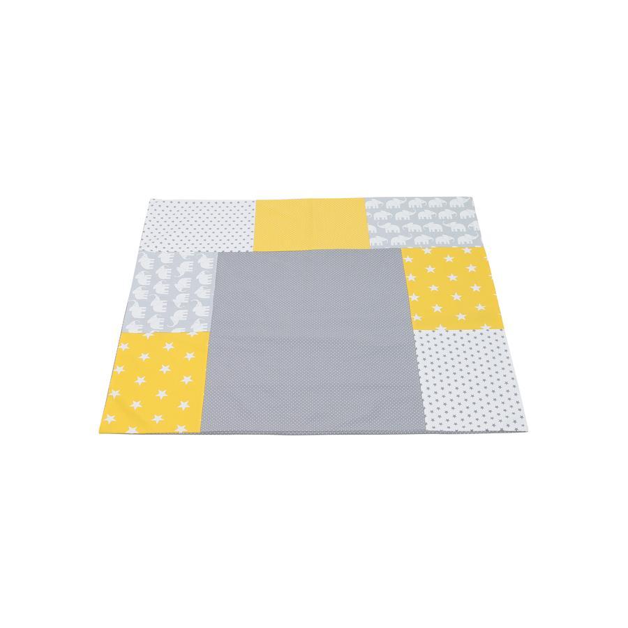 Ullenboom Patchwork Přebalovací potah matný žlutý 75x85 cm