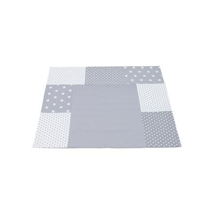 Ullenboom Patchwork Cubrecambiador estrellas gris 75x85 cm