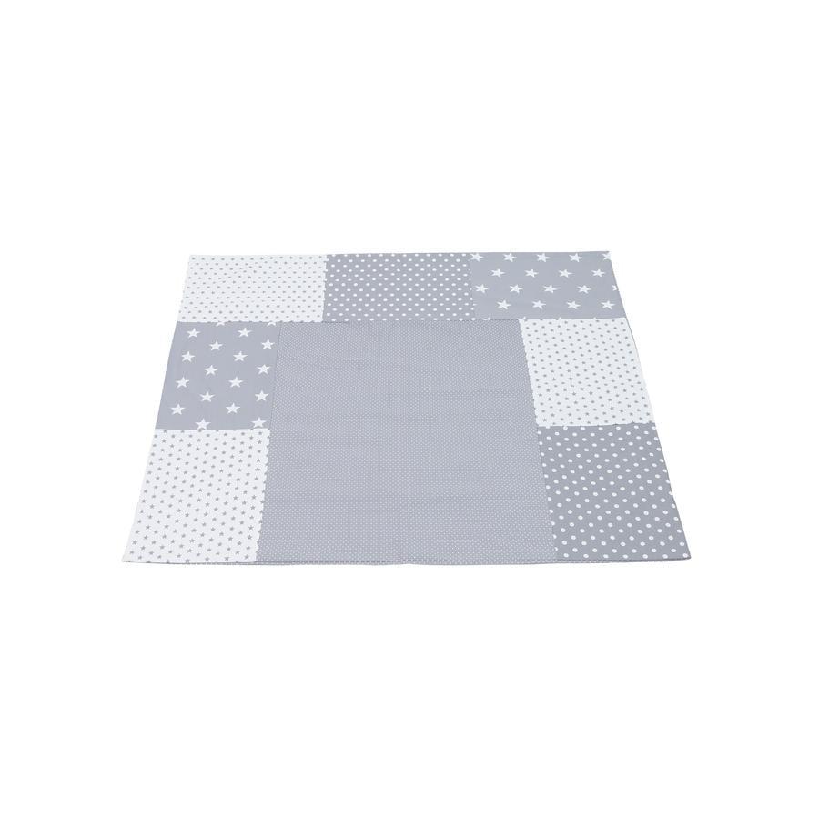 Ullenboom Patchwork Wickelauflagen-Bezug Graue Sterne 75x85 cm