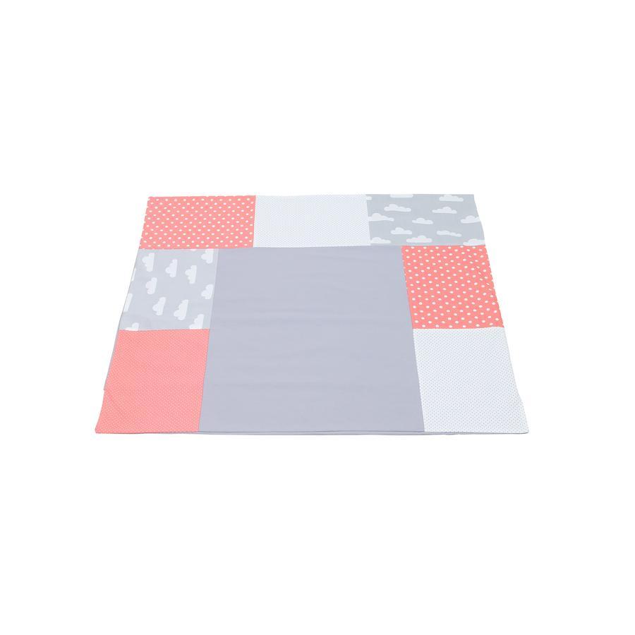 Ullenboom Patchwork Wickelauflagen-Bezug Coral Wolken 75x85 cm