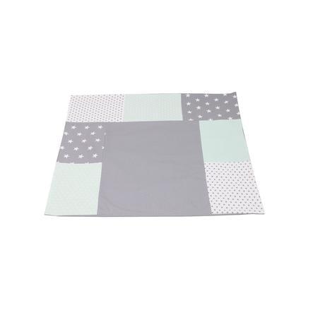 Ullenboom Housse de matelas à langer 75x85 cm patchwork menthe/gris