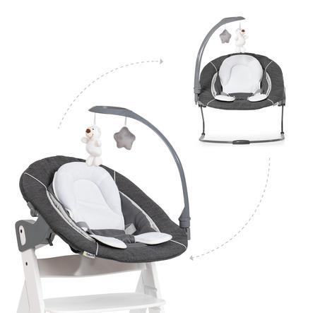 hauck Babyaufsatz Alpha Bouncer 2in1 Deluxe Melange Grey