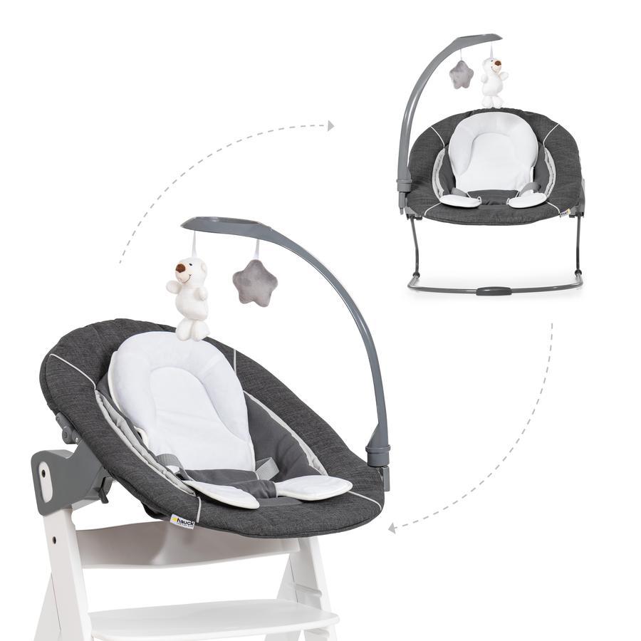 hauck Babyaufsatz Bouncer 2in1 Deluxe Melange Grey