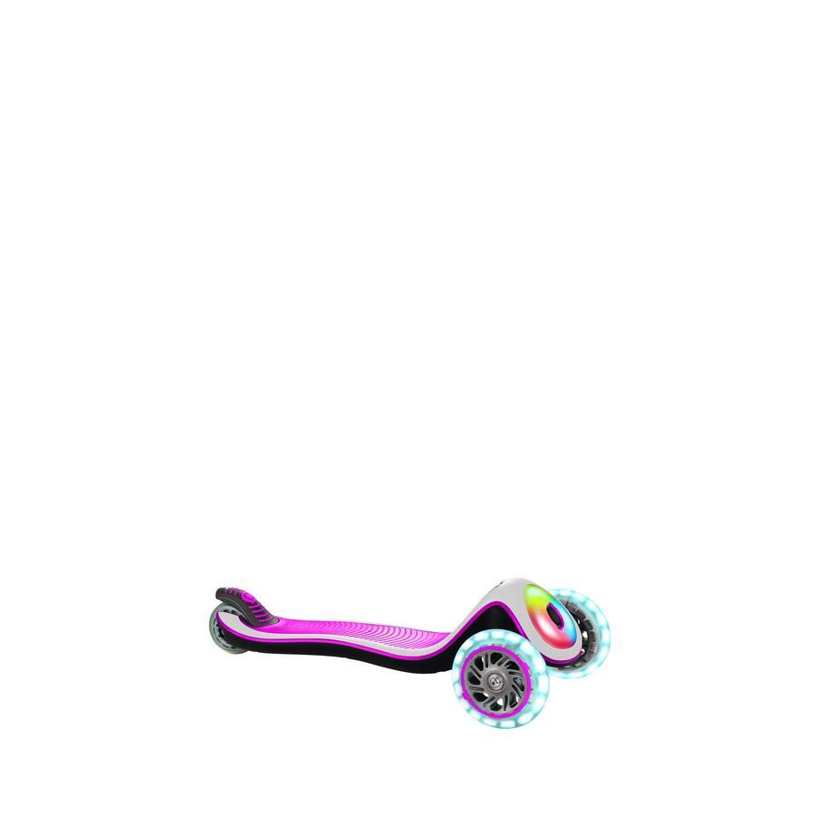 GLOBBER Scooter ELITE PRIME deep pink-weiß, mit Leuchtrollen und Leuchtdeck