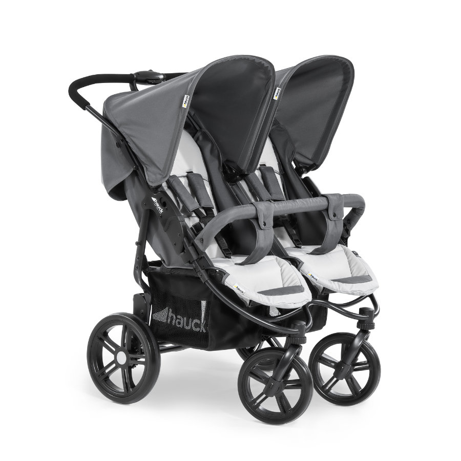 hauck Poussette double Roadster Duo SLX grey/silver 2020