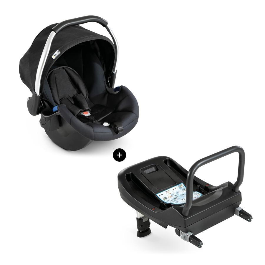 hauck Siège auto cosi Comfort Fix gr. 0+ black/black, base