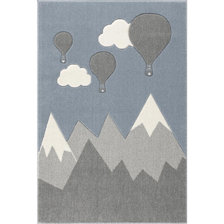 ScandicLiving teppe fjell og ballonger, sølvgrå/hvit, 120x180 cm