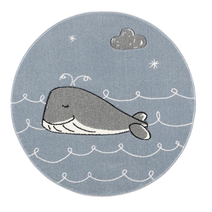 ScandicLiving Dywan Wieloryb Blue/Grey, okrągły Ø 133 cm