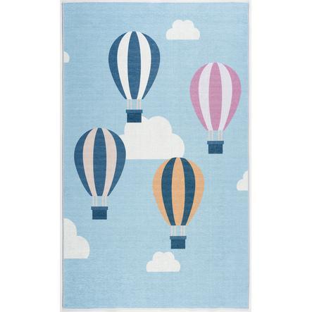 ScandicLiving tæppe balloner lyseblå, tryk 100x160 cm