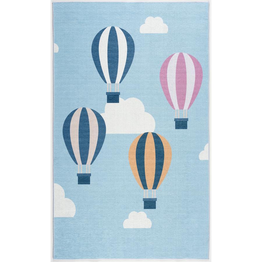ScandicLiving Teppich Luftballons hellblau, print 100x160 cm