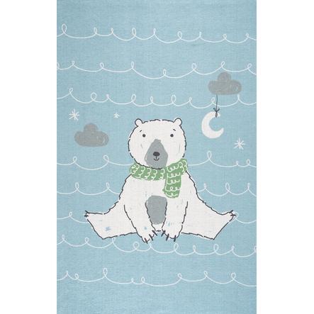 ScandicLiving Teppich Eisbär hellblau, print 100x160 cm