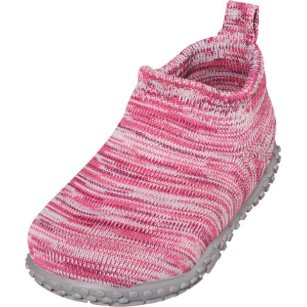 Playshoes  pantofola in maglia rosa