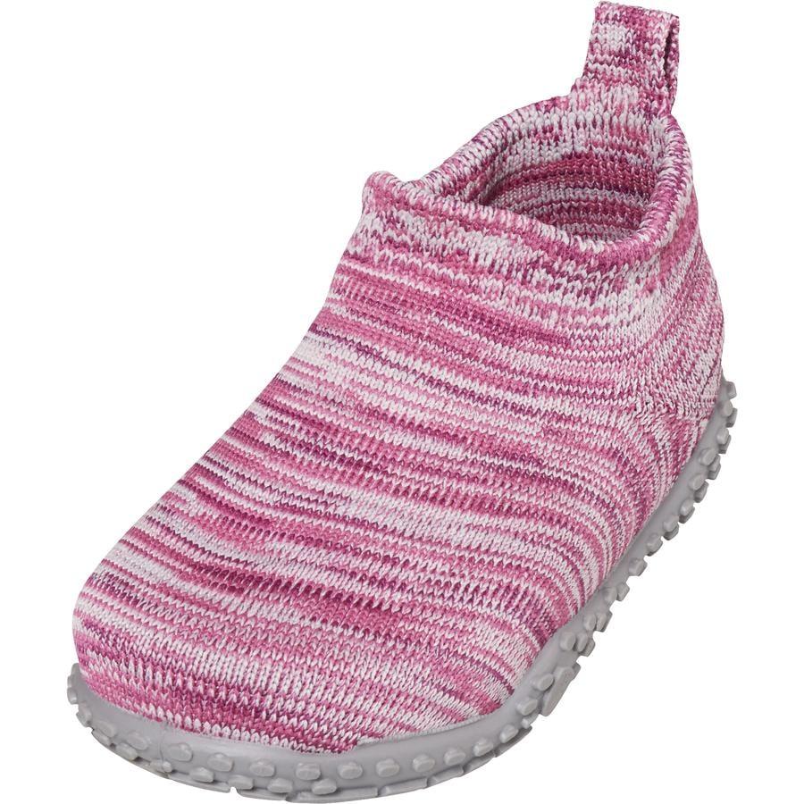 Playshoes  pantoffel gebreid roze