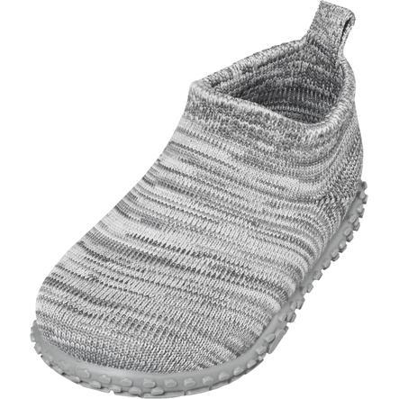 Playshoes Slipper stickad grå