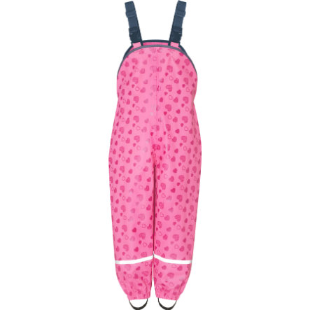 Playshoes Pantaloni da pioggia, cuoricini rosa