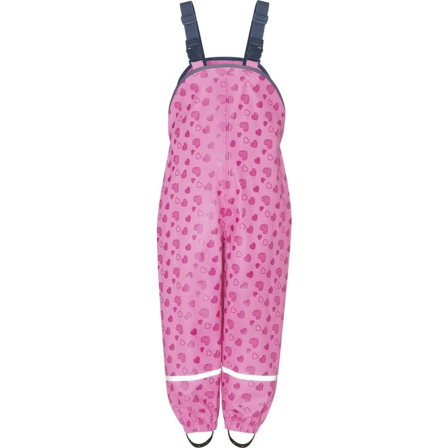 Playshoes Regenlatzhose Herzchen pink